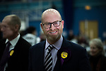 © Joel Goodman - 07973 332324 . 24/02/2017 . Stoke-on-Trent , UK . PAUL NUTTALL arrives at the count in the by-election for the constituency of Stoke-on-Trent Central , at Fenton Manor Sports Complex . Photo credit : Joel Goodman