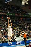 Real Madrid´s Jaycee Carroll during 2014-15 Euroleague Basketball match between Real Madrid and Anadolu Efes at Palacio de los Deportes stadium in Madrid, Spain. December 18, 2014. (ALTERPHOTOS/Luis Fernandez)