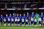 Players of FC Copenhague line up and pose for photos prior to the UEFA Europa League 2017-18 Round of 32 (2nd leg) match between Atletico de Madrid and FC Copenhague at Wanda Metropolitano  on February 22 2018 in Madrid, Spain. Photo by Diego Souto / Power Sport Images