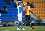 St Johnstone v Partick Thistle…11.02.17     Scottish Cup    McDiarmid Park<br />Steven MacLean reacts to his miss<br />Picture by Graeme Hart.<br />Copyright Perthshire Picture Agency<br />Tel: 01738 623350  Mobile: 07990 594431