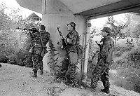 - Slovenian militia during the independence war of July 1991<br /> <br /> - miliziani sloveni durante la guerra di indipendenza del luglio 1991