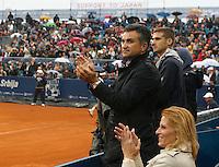 Tenis, Serbia Open 2011.Final.Novak Djokovic (SRB) Vs. Feliciano Lopez (ESP).Dijana Djokovic and Srdjan Djokovic, smile.Beograd, 01.05.2011..foto: Srdjan Stevanovic
