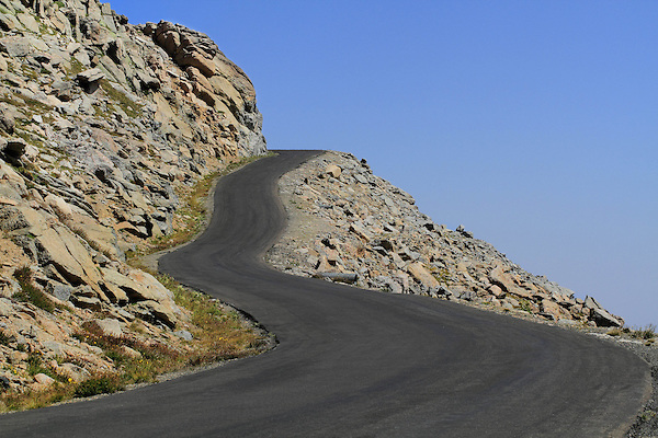 Mount Evans road crosses the slopes of Mount Evans (14250 feet) in the Rocky Mountains west of Denver, Colorado, USA Guided photo tours and hiking tours to Mt Evans.
