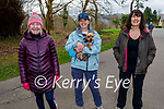 Enjoying a walk in the Killarney National park on Friday, l to r: Julie Leonard, Helen Fleming with Max the dog and Mary O'Connor.