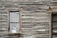 Abandoned house detail, Maine, USA