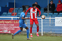 Lewis Francis of Clapton during Redbridge vs Clapton, Len Cordell Memorial Cup Football at Oakside Stadium on 10th April 2021