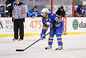 Buffalo Junior Sabres defensemen Ben Casale (19) during a game against the St. Michaels Buzzers at the Frozen Frontier outdoor game at Frontier Field on December 15, 2013 in Rochester, New York.  St. Michael's defeated Buffalo 5-4.  (Copyright Mike Janes Photography)