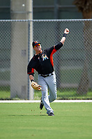 Miami Marlins Casey Soltis (23) during practice before a minor league Spring Training intrasquad game on March 31, 2016 at Roger Dean Sports Complex in Jupiter, Florida.  (Mike Janes/Four Seam Images)