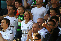 Swansea fans   during the Barclays Premier League match Watford and Swansea   played at Vicarage Road Stadium , Watford