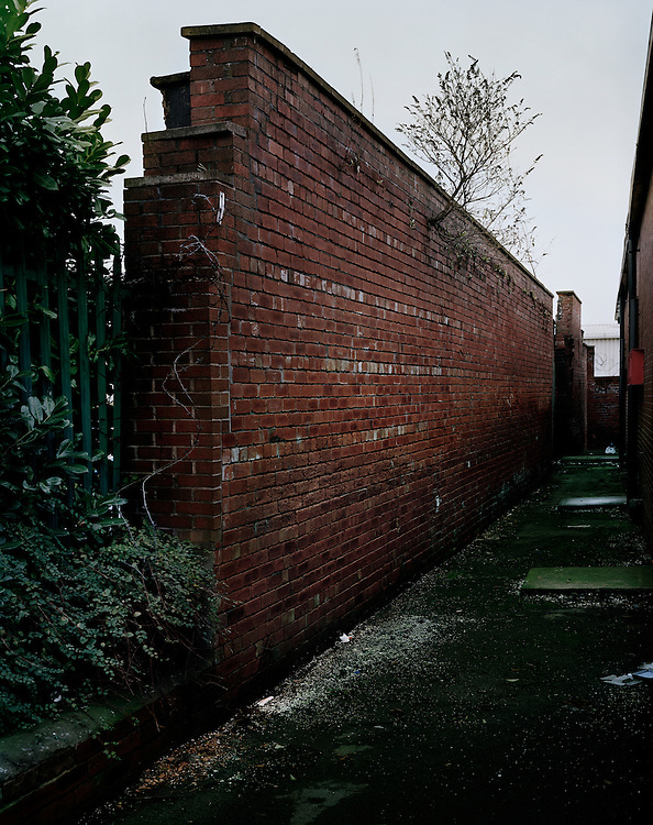 © John Angerson Sites across Leeds Yorkshire where homeless people have once slept. Near Bus Depot Rosevlle Road.