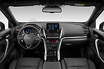 Stock photo of straight dashboard view of 2021 Mitsubishi Eclipse-Cross-PHEV Instyle 5 Door SUV Dashboard