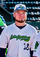 29 May 2021: Vermont Lake Monsters pitcher Ben Tate, from South Burlington, VT, smiles prior to a game against the Norwich Sea Unicorns at Centennial Field in Burlington, Vermont. The Lake Monsters defeated the Unicorns 6-3 in their FCBL Home Opener, the first home game played at Centennial Field post-Covid-19 pandemic. Mandatory Credit: Ed Wolfstein Photo *** RAW (NEF) Image File Available ***