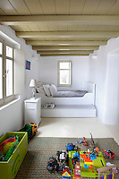 children's room with toys