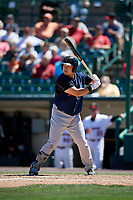 Scranton/Wilkes-Barre RailRiders designated hitter Ji-Man Choi (36) bats during a game against the Rochester Red Wings on June 7, 2017 at Frontier Field in Rochester, New York.  Scranton defeated Rochester 5-1.  (Mike Janes/Four Seam Images)
