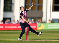 Luke Holman bowls for Middlesex during Kent Spitfires vs Middlesex, Vitality Blast T20 Cricket at The Spitfire Ground on 11th June 2021