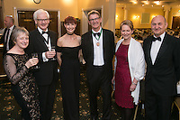 Pictured from left, Clare Egan, Joe Egan, Tracy Radford, President Alan Radford, Shelagh Mitchell and George Kujawinski