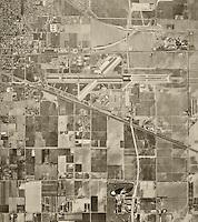 historical aerial photograph Ontario airport, San Bernadino County, California, 1966