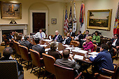 United States President Barack Obama and Vice President Joseph Biden participate in a National Economic Council and Domestic Policy Council planning meeting in the Roosevelt Room of the White House, Thursday, February 11, 2010..Mandatory Credit: Pete Souza - White House via CNP