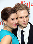 Stephanie J. Block and Sebastian Arcelus attends the Opening Night After Party for 'Falsettos'  at the New York Hilton Hotel on October 27, 2016 in New York City.