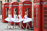 Ballerinas from the St Petersburg Ballet Theatre pose for photographers to publicise their performance of Swan Lake at the London Colliseum<br /> <br /> ©Ash Knotek  D3423  21/08/2018