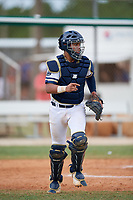 Ildefonso Ruiz (23) during the WWBA World Championship at the Roger Dean Complex on October 12, 2019 in Jupiter, Florida.  Ildefonso Ruiz attends Mater Dei Catholic High School in San Ysidro, CA and is committed to San Diego State.  (Mike Janes/Four Seam Images)