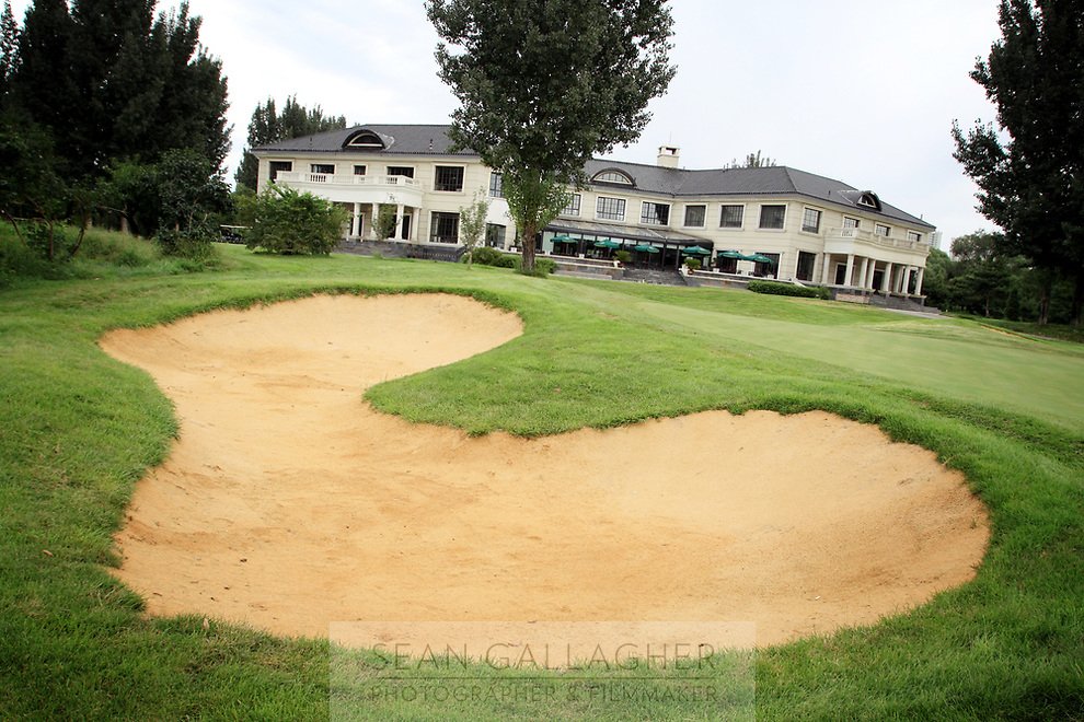 CHINA. The main clubhouse of the Huatang International Golf Club in Beijing. 2009