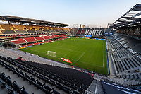 WASHINGTON, DC - SEPTEMBER 06: New York City FC players enter the pitch at Audi Field during a game between New York City FC and D.C. United at Audi Field on September 06, 2020 in Washington, DC.