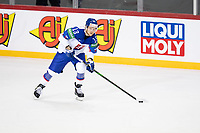 23rd May 2021, Riga Olympic Sports Centre Latvia; 2021 IIHF Ice hockey, Eishockey World Championship, Great Britain versus Slovakia;  13 Michal Kristof Slovakia make the first pass