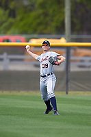 Detroit Tigers Ben Verlander (39) during practice before a minor league Spring Training game against the New York Yankees on March 22, 2017 at the Yankees Complex in Tampa, Florida.  (Mike Janes/Four Seam Images)