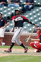 August 8, 2009:  Outfielder Trey Griffin (23) of the Baseball Factory team during the Under Armour All-America event at Wrigley Field in Chicago, IL.  Photo By Mike Janes/Four Seam Images