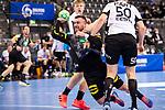 Jannik Kohlbacher (Deutschland #48) ; Armi Paert (Estland #50) ; EHF EURO-Qualifikation / EM-Qualifikation / Handball-Laenderspiel: Deutschland - Estland am 02.05.2021 in Stuttgart (PORSCHE Arena), Baden-Wuerttemberg, Deutschland.<br /> <br /> Foto © PIX-Sportfotos *** Foto ist honorarpflichtig! *** Auf Anfrage in hoeherer Qualitaet/Aufloesung. Belegexemplar erbeten. Veroeffentlichung ausschliesslich fuer journalistisch-publizistische Zwecke. For editorial use only.