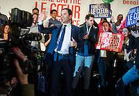 Benoit Hamon ‡ son meeting de Paris ‡ l'institut National du Judo le 18 janvier 2017 dans le cadre de la primaire de la gauche