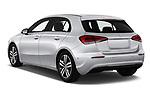 Car pictures of rear three quarter view of a 2019 Mercedes Benz A Class Progressive 5 Door Hatchback angular rear