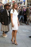 NEW YORK, NY- October 28: Jennifer Aniston at Good Morning America to talk about new Apple Series The Morning Show on October 28 , 2019 in New York City.Credit: RW/MediaPunch