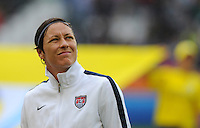 Abby Wambach of team USA during the FIFA Women's World Cup at the FIFA Stadium in Moenchengladbach, Germany on July 13th, 2011.