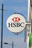 HSBC bank branch, London.