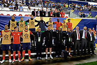 Harrison, NJ - Friday July 07, 2017: Costa Rica, Óscar Ramírez during a 2017 CONCACAF Gold Cup Group A match between the men's national teams of Honduras (HON) vs Costa Rica (CRC) at Red Bull Arena.