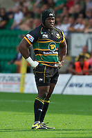 Brian Mujati of Northampton Saints during the Aviva Premiership match between Northampton Saints and Exeter Chiefs at Franklin's Gardens on Sunday 9th September 2012 (Photo by Rob Munro)