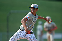 Pitcher Dylan West (13) during the Dominican Prospect League Elite Underclass International Series, powered by Baseball Factory, on August 1, 2017 at Silver Cross Field in Joliet, Illinois.  (Mike Janes/Four Seam Images)