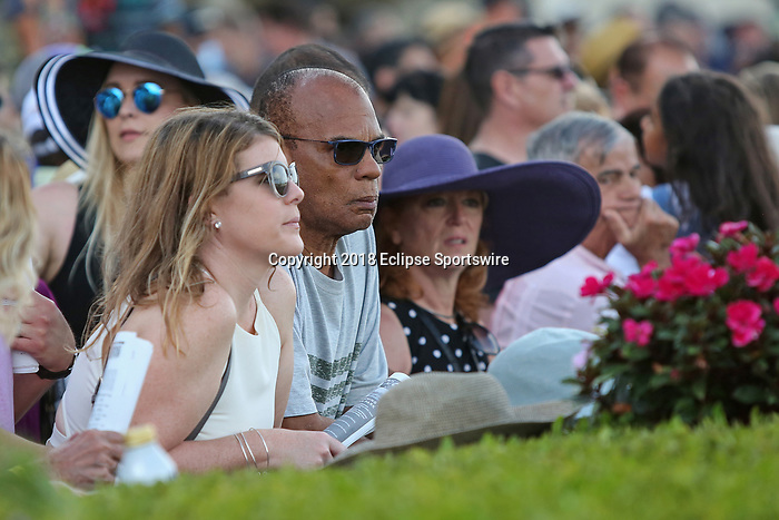 HALLANDALE BEACH, FL - March 31:  Scenes from Florida Derby Day at Gulfstream Park on March 31, 2018 in Hallandale Beach, Florida. (Photo by Liz Lamont/Eclipse Sportswire/Getty Images)