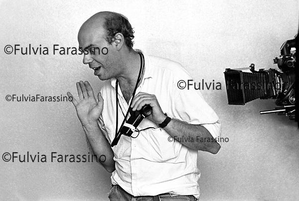 Milano1989,Luca Bigazzi sul set del film L'aria serena dell'ovest regia silvio Soldini