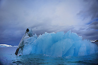 ANTARCTIC PENINSULA - YALOUR ISLANDS<br /> Dramatic light spots swirl over deep blue ice landscapes<br /> <br /> Full size: 69,2 MB