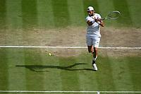 11th July 2021, Wimbledon SW London England, AELTC Wimbledon Tennis Championships, mens final, Novak Djokovic (Ser)  versus Matteo Berrettini (Ita) Matteo Berrettini (Ita)