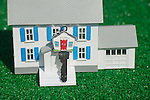 House Key with White Model House