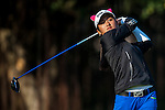 Linqing Chen of China in action during the Hyundai China Ladies Open 2014 on December 13 2014 at Mission Hills Shenzhen, in Shenzhen, China. Photo by Xaume Olleros / Power Sport Images