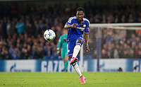 Baba Rahman of Chelsea plays a pass during the UEFA Champions League Group G match between Chelsea and Dynamo Kyiv at Stamford Bridge, London, England on 4 November 2015. Photo by Andy Rowland.