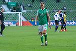 19.09.2020, wohninvest Weserstadion, Bremen, GER,  SV Werder Bremen vs Hertha BSC Berlin, <br /> <br /> <br />  im Bild<br /> <br /> enttäuscht / enttaeuscht / traurig / Niederlage / dissapointed<br /> Niklas Moisander (Werder Bremen #18 Kapitaen)<br /> <br /> Foto © nordphoto / Kokenge<br /> <br /> DFL regulations prohibit any use of photographs as image sequences and/or quasi-video.