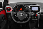Car pictures of steering wheel view of a 2019 Toyota Aygo x-Play 5 Door Hatchback Steering Wheel