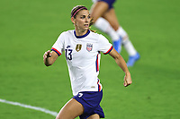 18th February 2021, Orlando, Florida, USA;  United States forward Alex Morgan (13) looks on during a SheBelieves Cup game between Canada and the United States on February 18, 2021 at Exploria Stadium in Orlando, FL.