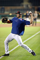 Tim Tebow works out for the first time with the Scottsdale Scorpions of the Arizona Fall League after having been assigned to the league by the New York Mets. The practice was held at Scottsdale Stadium on October 10, 2016 in Scottsdale, Arizona (Bill Mitchell)